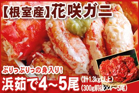 FB-07003 北海道根室産 花咲かに4~5尾(計1.3kg以上)