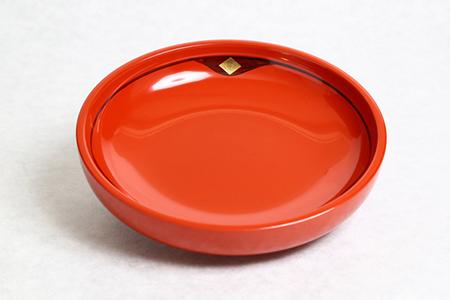 BS20 ◆1ヶ月10組限定◆ 秀衡塗盛皿18㎝金千代 朱【6000pt】