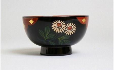 秀衡塗 特選汁椀 新白菊 伝統工芸品 漆器[BS027]
