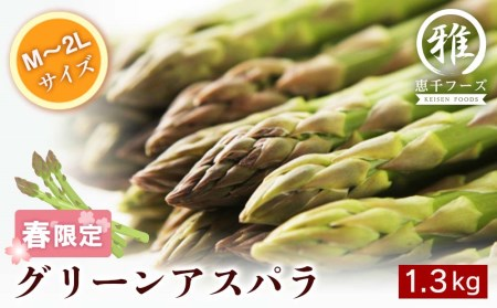 【M~2Lサイズ 約1.5kg】グリーンアスパラ・北海道千歳産 【野菜】 お届け:2021年5月10日頃~6月5日頃まで
