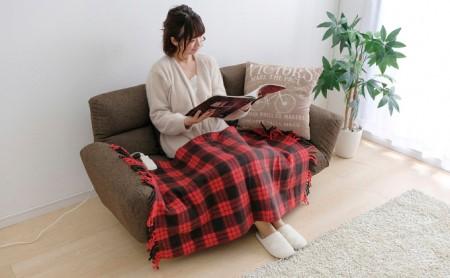 電気毛布ひざ掛け EBK-1208-ZR レッド