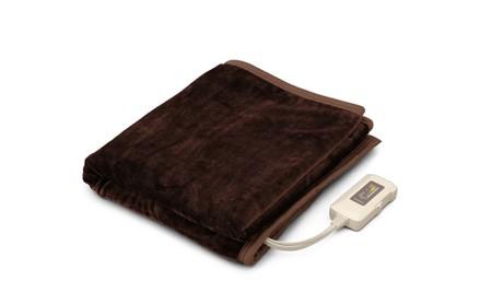 電気毛布 フランネル調 EHB-F1480-DTダークブラウン