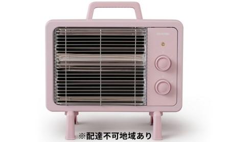 遠赤外線電気ストーブ 小型 ブラックコートヒーター IEHDB-800-P ピンク