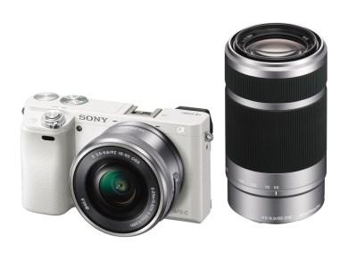 【161】ソニーデジタル一眼カメラα6000(ILCE-6000Y ホワイト)ダブルズームレンズキット-110,000ポイント