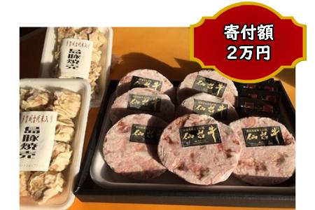 A002 仙台牛ハンバーグと多賀城古代米入焼売