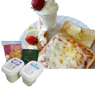 蔵王チーズ 朝食セット4種/計1.35kg[クリームチーズ(プレーン)、バター、シュレッドチーズ、ヨーグルト(プレーン)]