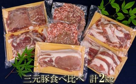 涌谷町産三元豚食べ比べセット 2kg