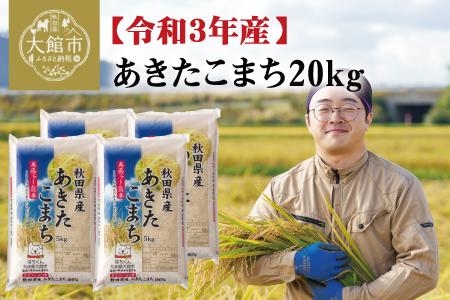 110P9001【令和3年産新米予約】秋田県産あきたこまち20kg