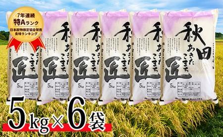 【早期受付 令和2年産】農家直送 7年連続「特A」ランク 秋田県 仙北市産米 あきたこまち 5kg×6袋(合計:30kg)2020年10月から発送開始