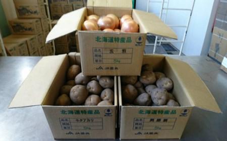 【2021年10月下旬発送予定】馬鈴薯(キタアカリ5kg・男爵5kg)・玉ねぎ5kg食べ比べセット【29005】