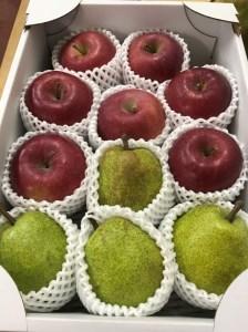 FY19-481 ラフランス&葉とらずふじりんご 詰合せ 約3kg