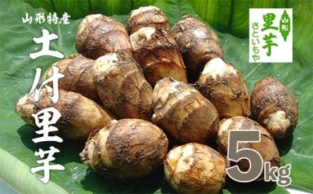 FY18-096 山形特産 土付里芋 5kg (特選クラス産地: 山形産、品種:土垂)