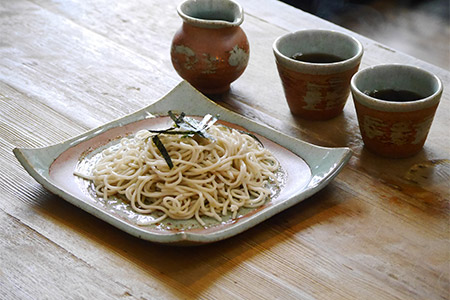 FY18-100 平清水焼  おそばセット (皿・ちょく・たれ入)