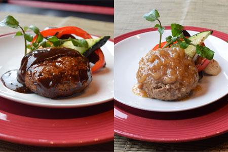 米沢牛ハンバーグセット(和風・ポルチーニ)_牛肉_和牛_ブランド牛