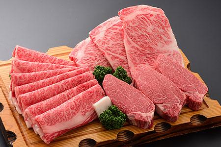 J-1 米沢牛すき焼き・ステーキ詰合せ
