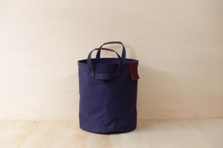 【ふるなび限定】【SAFU】PAIL BAG (ペールバッグ) Mサイズ ネイビー 国産帆布 エコバッグ バケツバッグ FN-Limited