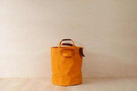 【ふるなび限定】【SAFU】PAIL BAG (ペールバッグ) Mサイズ イエロー 国産帆布 エコバッグ バケツバッグ FN-Limited