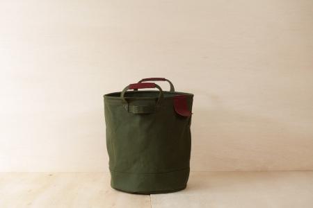 【ふるなび限定】【SAFU】PAIL BAG (ペールバッグ) Mサイズ オリーブグリーン 国産帆布 エコバッグ バケツバッグ FN-Limited