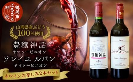 A31-002 赤ワイン 飲み比べ2本セット ソレイユルバン・ヤマソービニオン 豊穣神話・ヤマソービニオン 750ml・720ml 受賞