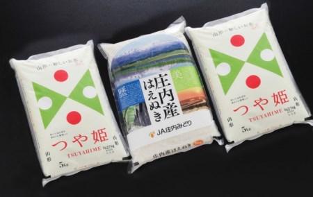 SC0198 令和2年産 庄内米はえぬき・つや姫 計15kg(5kg×3袋)  JM