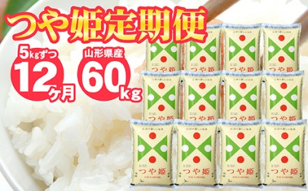 SJ0004 【12回定期便】特別栽培米つや姫 5kg×12回(計60kg) JS