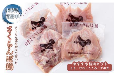 [山形県産若鶏]山形さくらんぼ鶏 おすすめ精肉セット