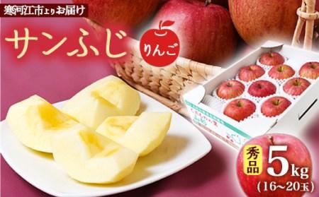 寒河江産りんご サンふじ秀品 5kg(16~20玉) 015-B11