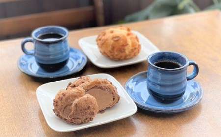 0048-2035 【かみのやまシュー&カカオシュー】と【こだわりコーヒー豆】詰め合わせ