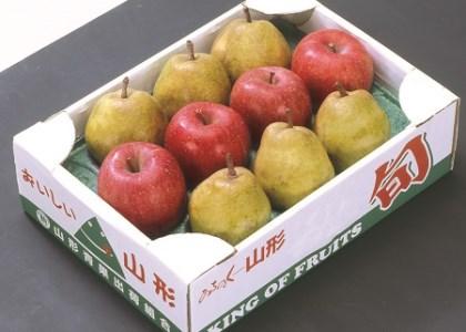 0020-104 ラ・フランスとふじりんご詰め合わせ 3kg