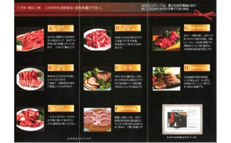 B022 米沢牛ギフト券(引換はがき5枚) 丸川精肉店