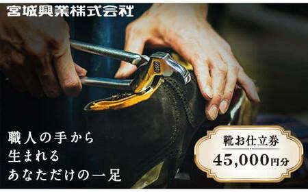 宮城興業のオーダーメイド靴 お仕立券45 1枚 790