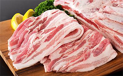 A-027 やまがたの豚バラ厚切り 約1.3kg(焼き肉用)