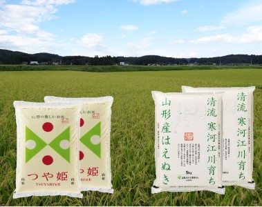 一等米 山形県産 はえぬき10kgつや姫4kg/計14kg(精米)