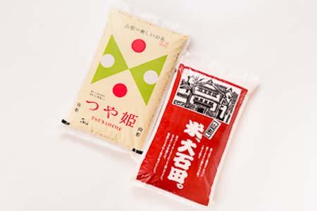 1-(50)【平成29年新米】「大石田産特別栽培米」つや姫5㎏&はえぬき5㎏食べくらべセット
