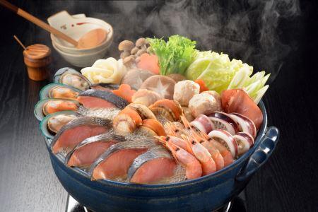 B-014 魚介たっぷり 石狩鍋[3~4人前]