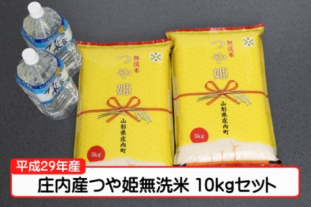 【A142】平成29年庄内町産つや姫無洗米10kgセット(3月発送)