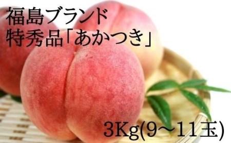 No.0858【先行予約】もも  あかつき 3kg 特秀品(9~11玉)