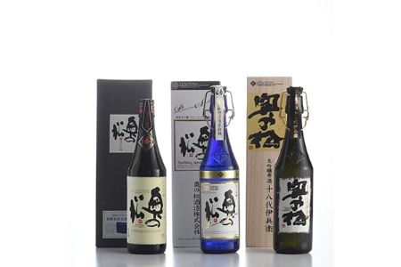 [奥の松酒造三昧]大吟醸雫酒、純米大吟醸スパークリング、純米大吟醸 720ml各1本【1051366】