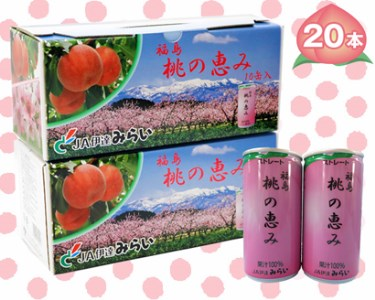 006 果汁100%ジュース「福島桃の恵み」20本