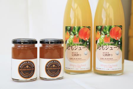051  桃ジュースと桃ジャムのセット