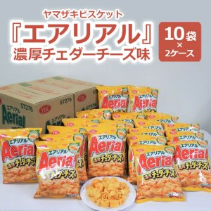 BY05_ヤマザキビスケット『エアリアル』濃厚チェダーチーズ味(10袋×2ケース)