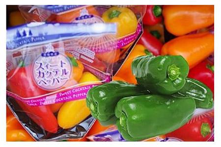 ピーマン生産日本一!!神栖市産のピーマン&ミニパプリカ(各1kg)