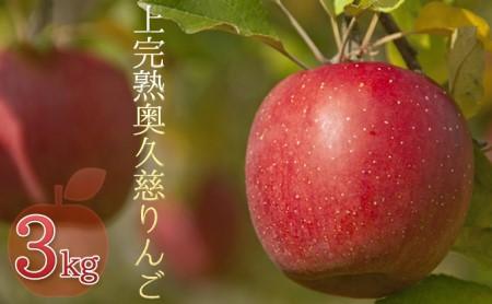 【2020年9月以降発送】奥久慈りんご園の樹上完熟奥久慈りんご 3kg