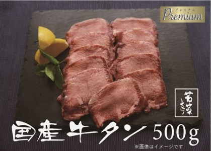 K1725【希少部位】やわらか国産牛タン500g(250g×2パック)