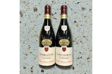 フランス産 大谷地下蔵熟成ワイン ブルゴーニュ赤 2本セット【1097420】