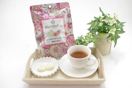【AM06】【砂糖未使用ニコベルチェ】ピーチホワイトチョコレート【15pt】