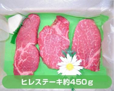 No.047 上州牛ヒレステーキ3枚入(約450g)