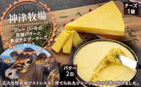 神津発酵バターとチェダーチーズセット F21K-039
