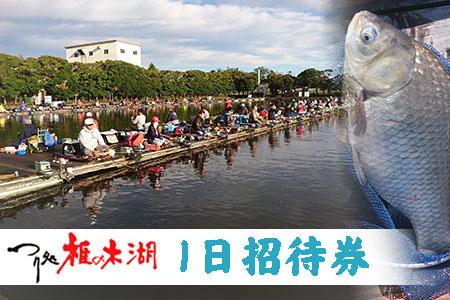 ~つり処椎の木湖~1日ご招待券【へら鮒釣り】