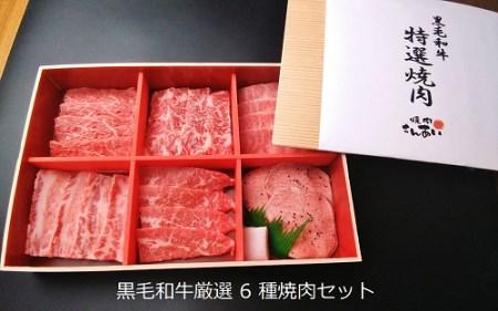 黒毛和牛厳選6点食べ比べ焼肉セット(自家製タレ付き)